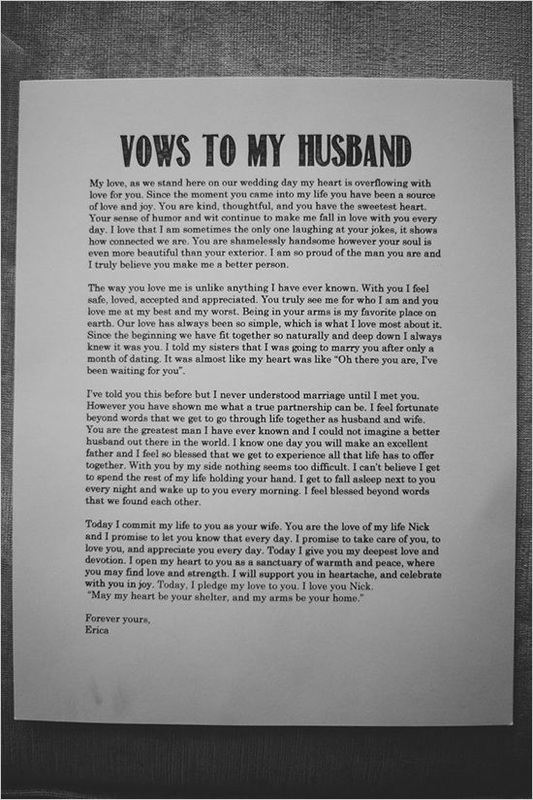 writing vows examples
