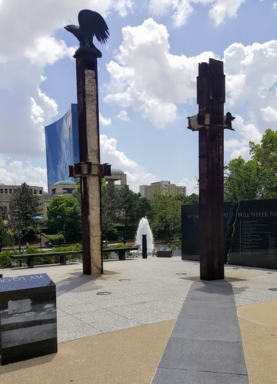 911 Memorial on Ohio Street in Indy