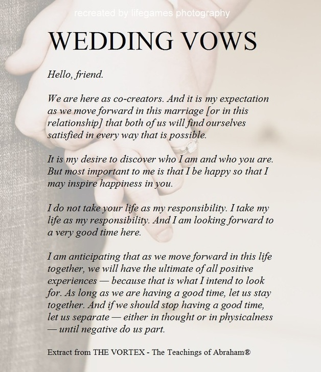 Wedding Vows - Marry Me In Indy! LLC