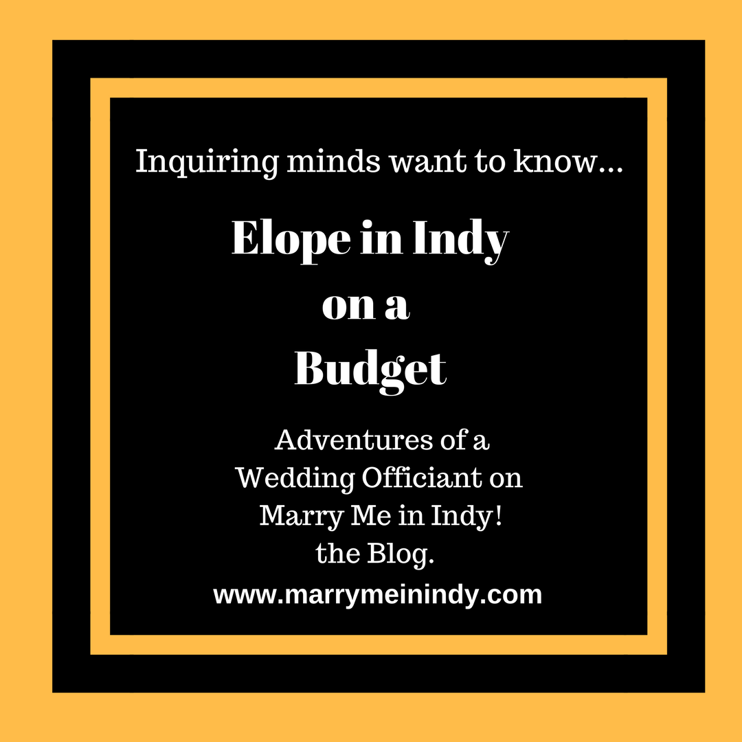 Elope in Indy on a Budget, Elope Indy, Elope Indiana
