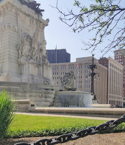 Fountain on the east side of Soldiers and Sailors Monument