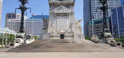 South side of soldiers and sailors monument